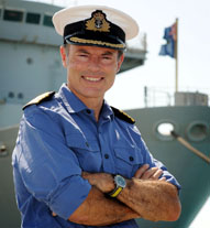 IN Situ portrait of Captain Northwood RN