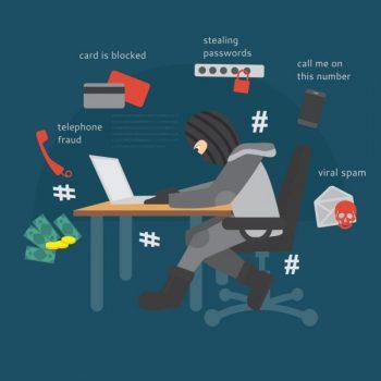 Online Scam cartoon